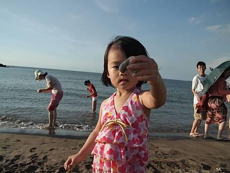 爸爸,這是我撿的貝殼