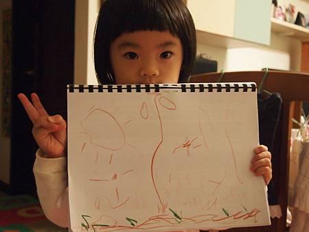 20121209蠟筆畫畫