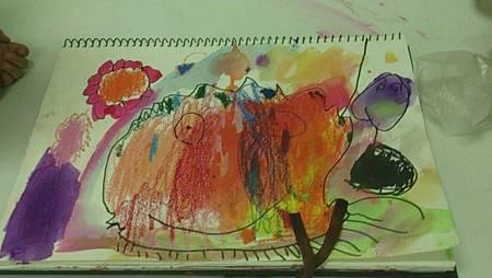 2013/9/18畫畫課~愛吃巧克力的老爺爺