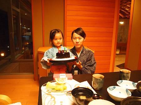 加賀屋招待的生日蛋糕