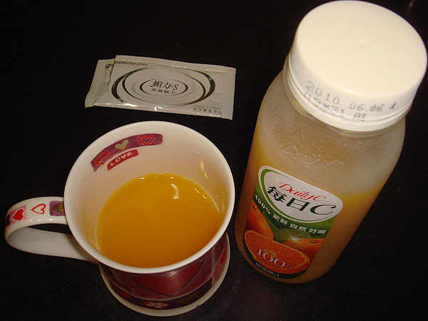 加了柳橙汁