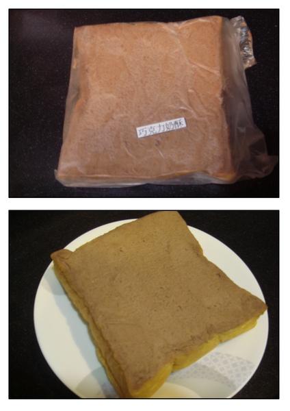 巧克力奶酥包裝袋及拆封後