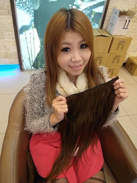 這是真髮髮片唷
