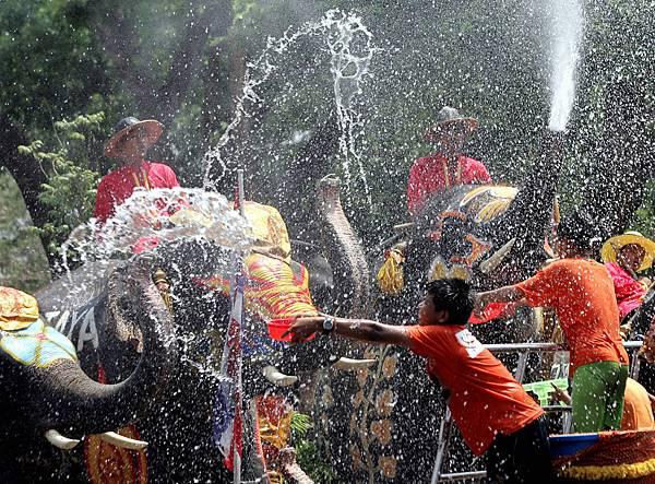 泰國潑水節1