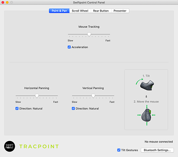 Tracpoint 簡報筆滑鼠 控制面板