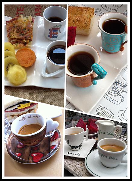 暑假...悠閒早餐
