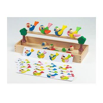 T4-09.歡樂小鳥形狀顏色益智拼圖