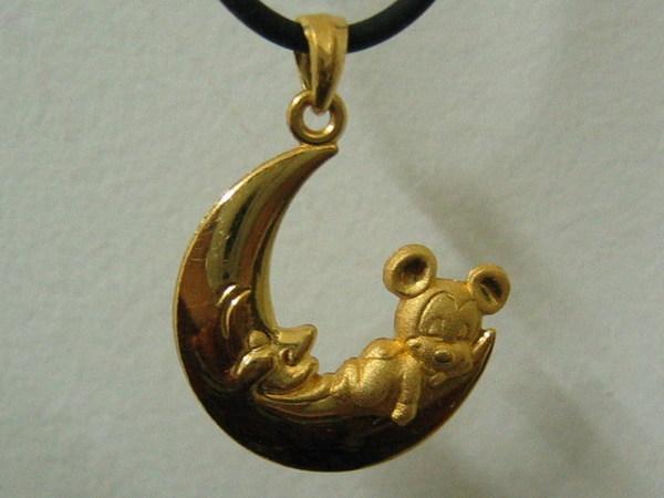 米奇純金項鍊