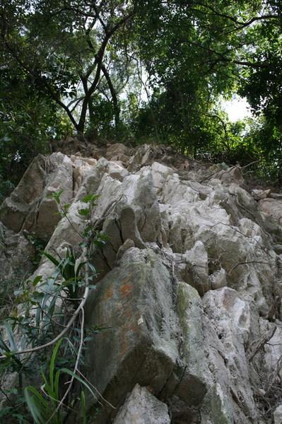 很可怕的岩壁
