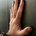 熱感應牆可以留下手印