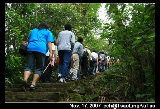 第一次走步道那麼多人的