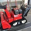 車站的小型鏟雪車
