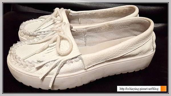 厚底流蘇小白鞋
