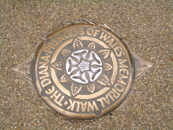 園內的指標,其實Kensington Gardens(肯辛頓公園)與Hyde Park (海德公園)是連在一起的