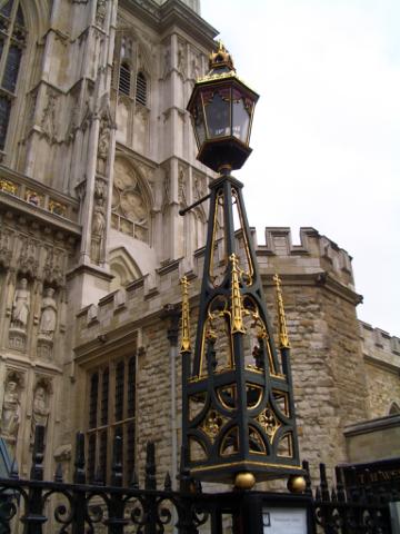 西敏寺的街燈