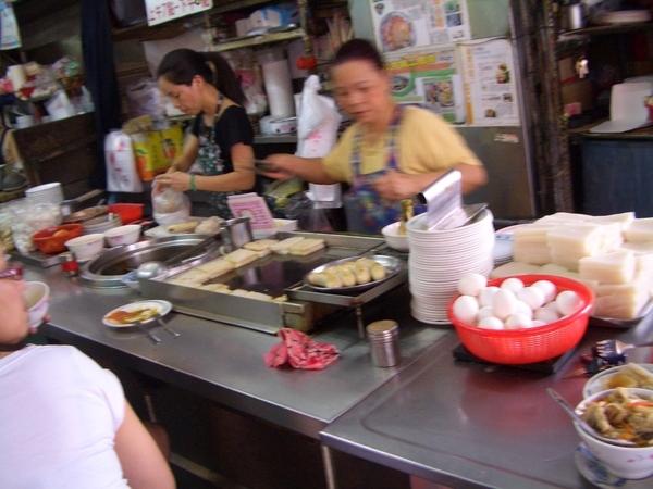 菜頭粿攤照片