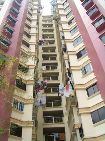 新加坡的公寓有萬國旗