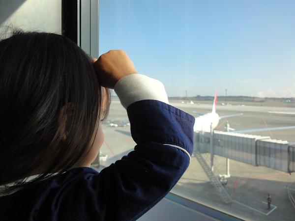 我們要坐飛機了