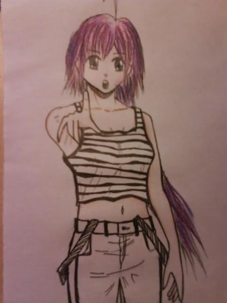 紫色頭髮喔
