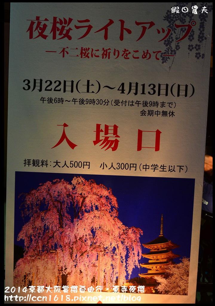 2014京都大阪賞櫻自由行.東寺夜櫻DSC_9027