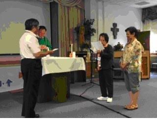 北美神修小會新任分會會長吳懷瑜就職