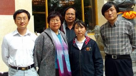 和杨佳母集体照