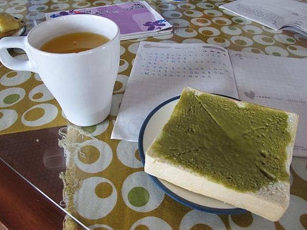 蘭嶼五爪貝~抹茶吐司