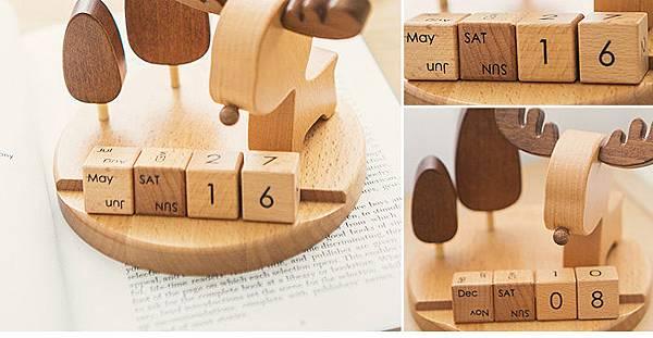 麋鹿擺飾年曆