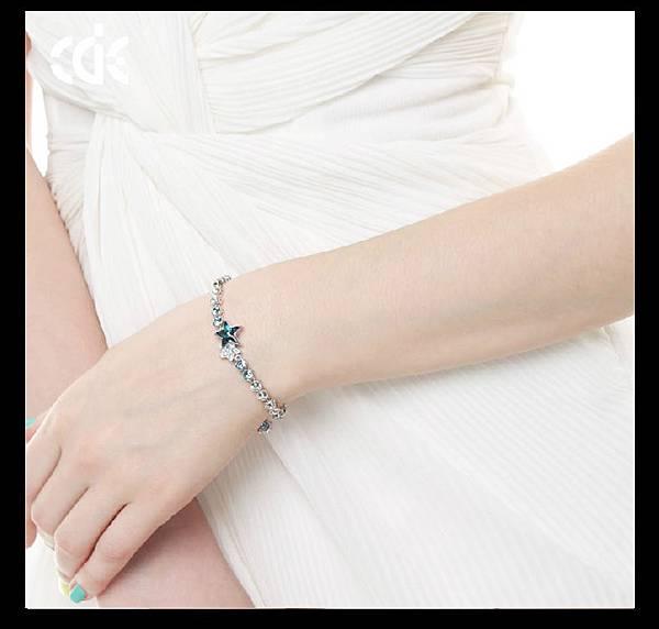 星光之痕--S925純銀水晶手鍊