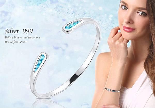 馬爾奢華--純銀999手環