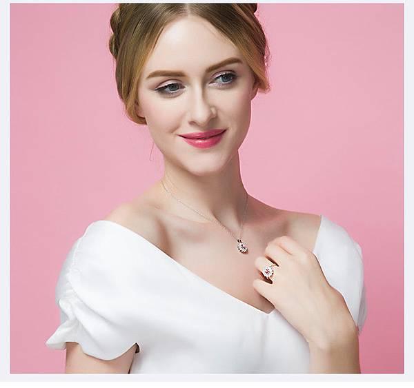炫麗之舞--S925純銀水晶項鍊