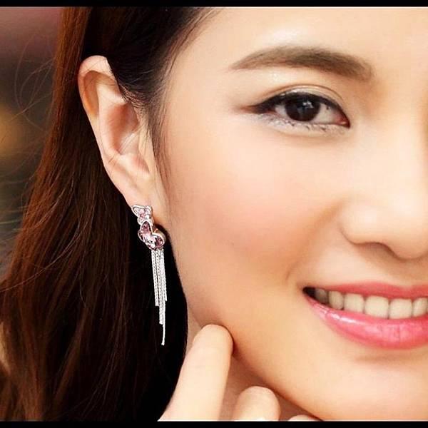蝴蝶幽蘭--水晶流蘇耳環