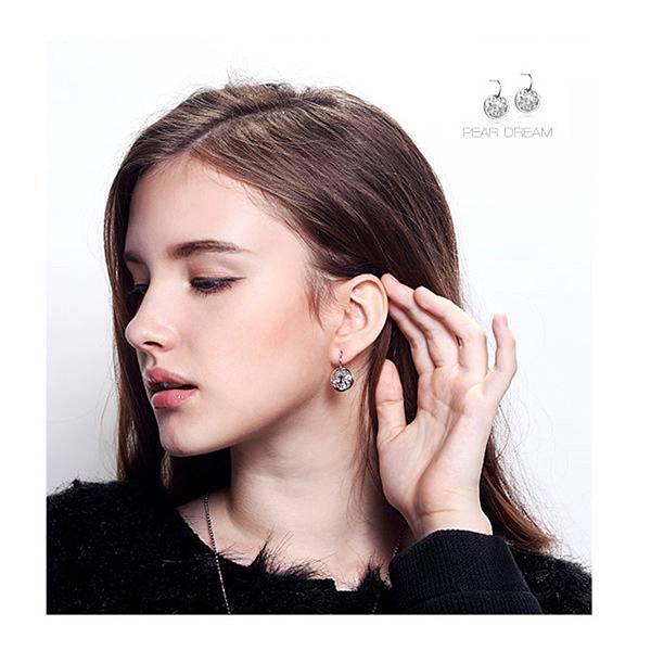 梨圓夢--縷空耳環