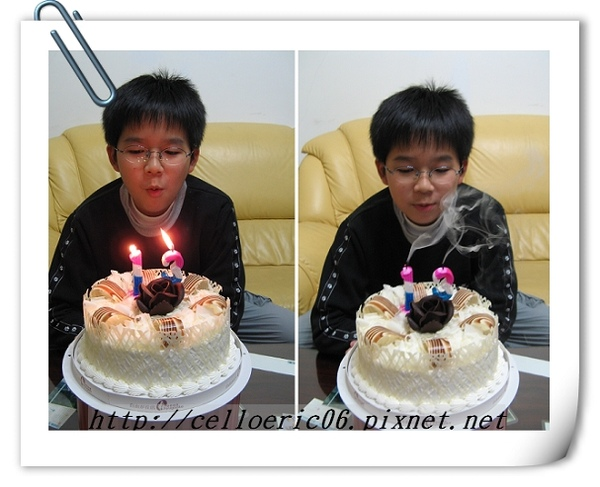 十二歲生日!插錯蠟燭了~