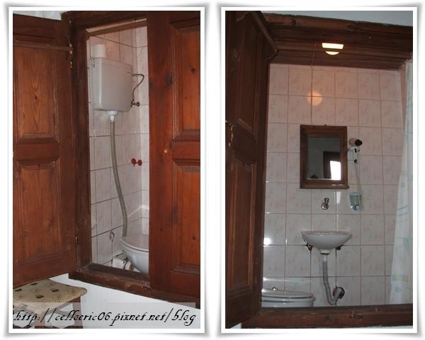 番紅花城壁櫥裏的廁所