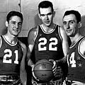 Bob Cousy, Bill Sharman, Ed Macauley