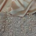 選購禮服課的布料,令人醉心的粉蕾絲.jpg