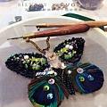 法式刺繡-立體蝴蝶 #縫珠刺繡課程