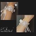 #新娘手工飾品(歡迎訂製或報名上課) 精緻縫珠手腕腕飾