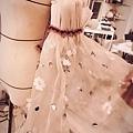 蕾絲水袖製作