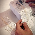 夢幻的復古蕾絲婚紗,製作中.....
