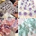 用手染花結合羽毛製作拍攝創意造型頭飾