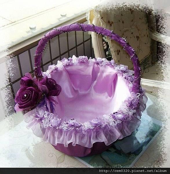 紫色喜糖籃