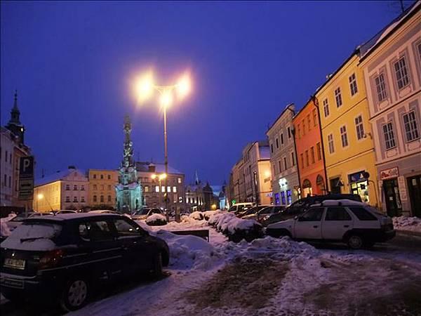 晚上的廣場
