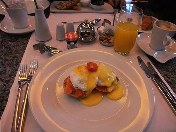 這間飯店的早餐超好吃