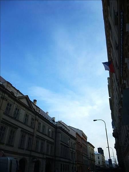 難得一見的藍天