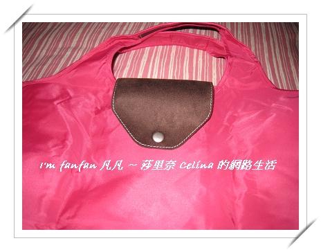 可愛桃紅購物包