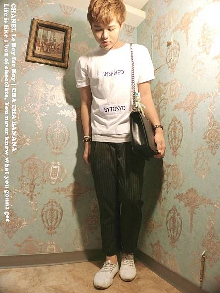 CHANELLEBOY男生穿搭小香奈兒包喳喳CHACHA