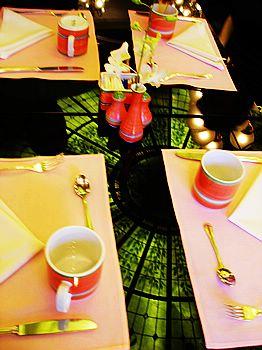 酒店吃早餐的餐廳