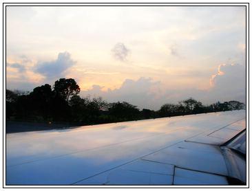 飛機上拍攝的黃昏